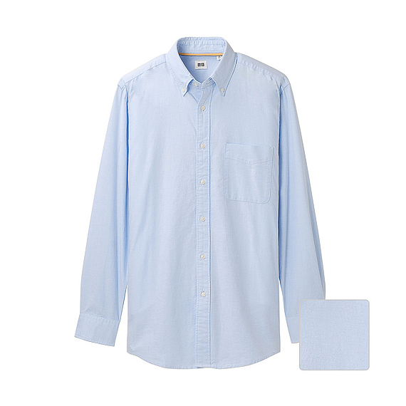 blue button down oxford shirt
